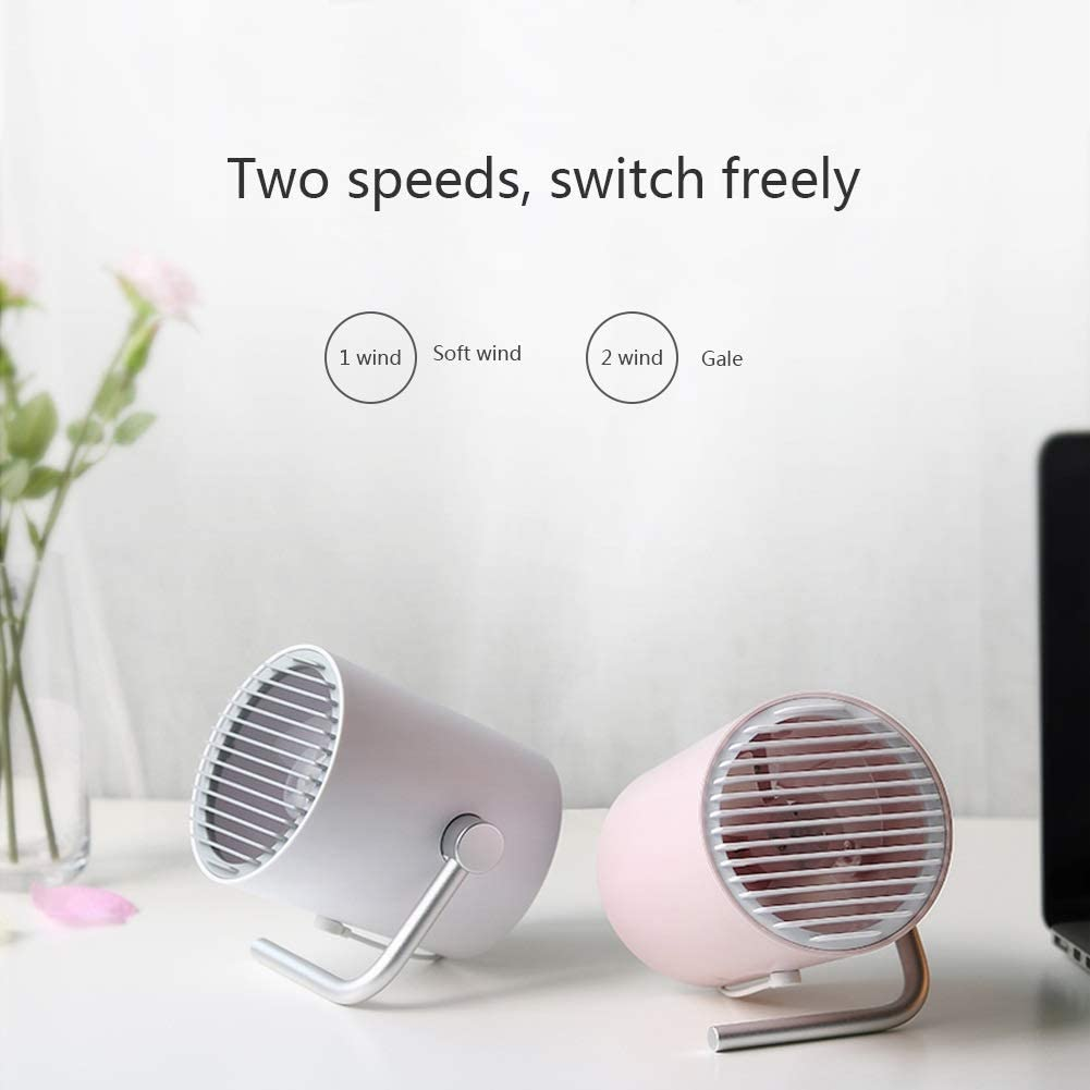 Color : Pink0.9m line+1.5m Extension Cord Chihen Small Fan USB Mini Portable leafless Mute Touch Sensor Office//Family Big Wind Cooling White Black Pink