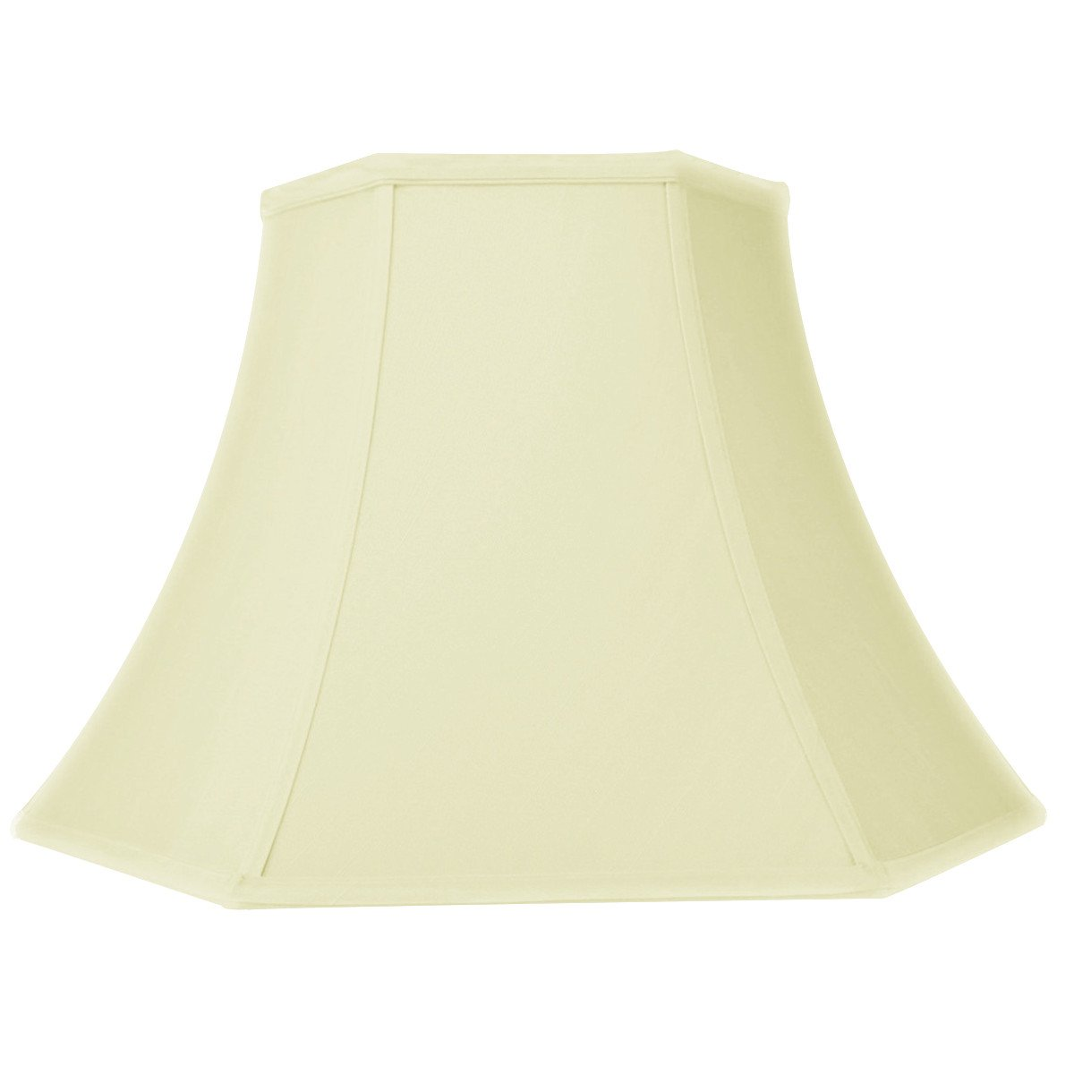 8x16x12 Hexagon Bell Eggshell Lampshade with Brass Spider fitter By Home Concept - Perfect for table lamps and some desk lamps -Medium, Egg Shell