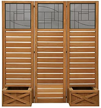 Yardistry Privacy Screen With Planter Boxes Ym11658 Amazonca