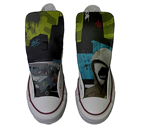 Graffiti personalisierte Hi Converse Handwerk Star Straße Schuhe Schuhe Customized All IqRw8