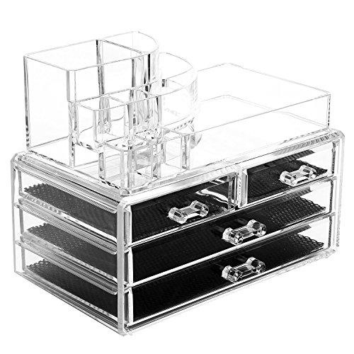 Acrylic 2 Drawers Cosmetic Organizer - 4