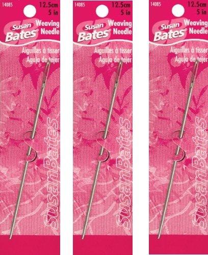 Susan Bates Steel Weaving Needle, 5-Inch (3 Pack)