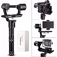 Zhiyun Crane M 3-Axis Stabilizer Gimbal for All Sports Cameras & All Smartphones & Sony black magic series DC & Panasonic Lumix DMC & a few Mirrorless Cameras
