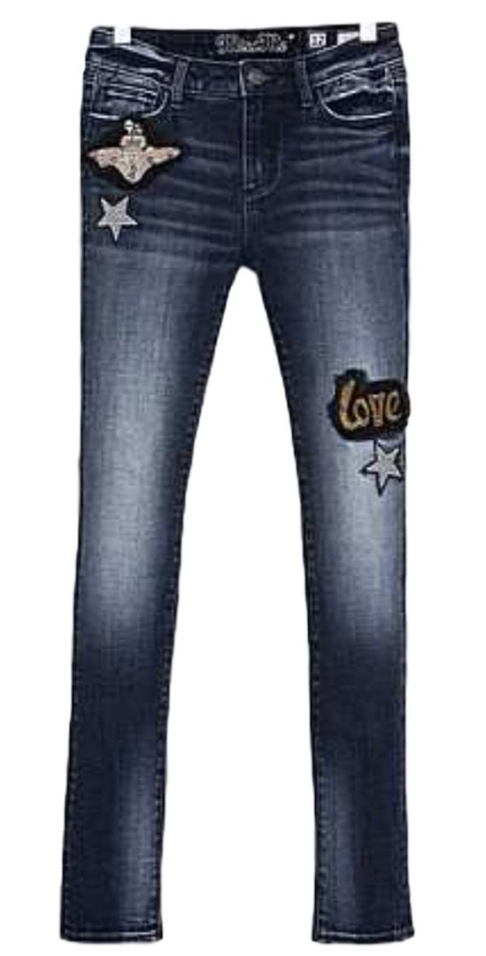 Miss Me Big Girls Jeans Nothing But Love Ankle Skinny Medium Wash (8)