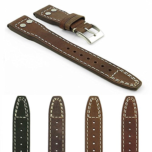 DASSARI Dynasty Vintage Leather Watch Strap Big Pilot Dynasty Leather Watch