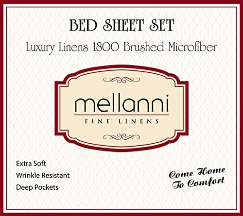 home, kitchen, bedding, sheets, pillowcases,  sheet, pillowcase sets 2 image Mellanni Bed Sheet Set - Brushed Microfiber 1800 Bedding deals