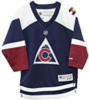 Colorado Avalanche Alternate Navy Printed Toddler NHL Jersey