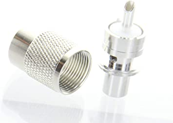 20 HIGH QUALITY PL-259 SILVER PLATED WITH TEFLON DIELECTRIC UHF MALE CONNECTORS