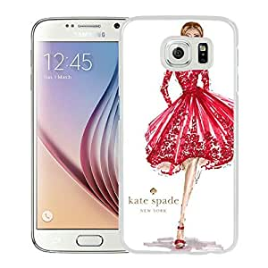 Fashionable And Unique Kate Spade Cover Case For Samsung Galaxy S6 White Phone Case 135