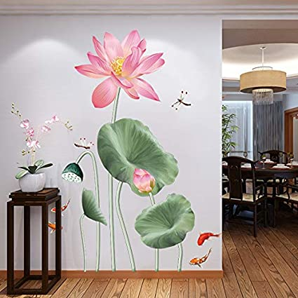Details about  /3D Painting Lotus 113NA Business Wallpaper Wall Mural Self-adhesive Commerce Amy