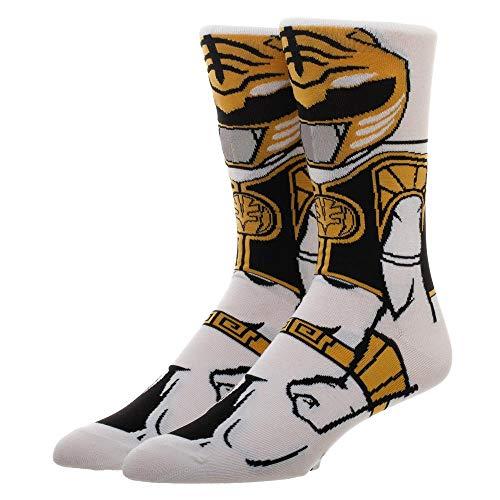 (Power Rangers White Ranger 360 Character Crew Socks)