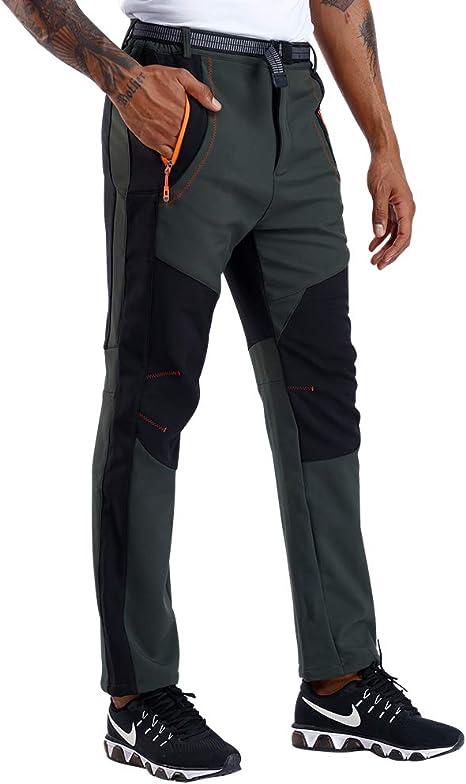 CARETOO Pantalones Trekking Hombre Primavera Verano Pantalones de Escalada Senderismo Alpinismo Invierno Polar Forrado Aire Libre