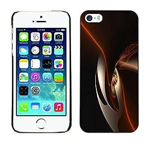 PC/Aluminum Funda Carcasa protectora para Apple Iphone 5 / 5S Black Shiny Dark Smooth / JUSTGO PHONE PROTECTOR
