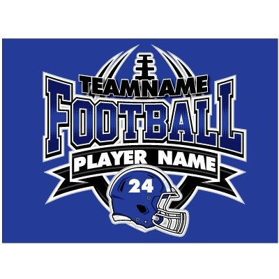 Personalized Printing 4U High School Football Yard Sign with Your Custom Info and Colors - 18 x 24