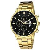 Wrist Watch for Men hessimy Men's Business Casual Chronograph Quartz Analog Waterproof Wristwatch Stainless Steel Strap Men Fashion Wrist Watch Dress Sport Watches with Luxury Brand