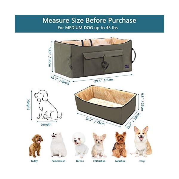 Petsfit Haustier - Autositz mit Sicherheitsgurt - Sicherheit und Komfort für Reisen - Maschinenwaschbare…