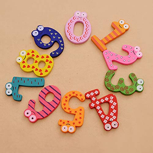 Rocita 10pcs//Set Cartoon Cute Wooden Number Fridge Magnet Math For Children Early Learning Educational Gift Toy Refrigerator Sticker