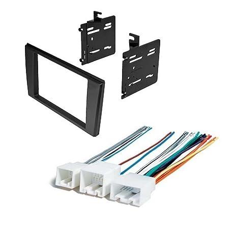 amazon com car stereo radio double 2 din installation dash trim kit