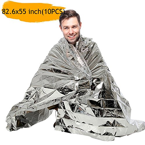 - Emergency Blanket Survival Rescue Foil Thermal Space First Aid Sliver Rescue Curtain Military Blanket - Essentials for Marathons, Camping, Outdoors and Natural Disaster(82