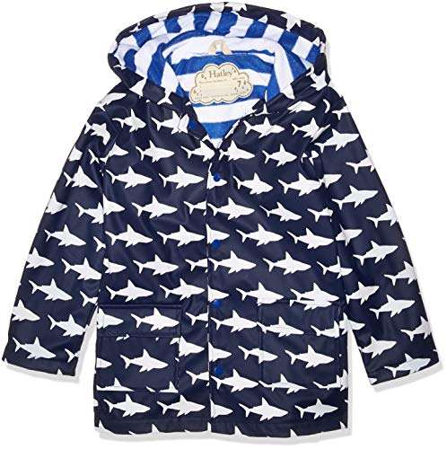 Hatley Boys' Little Printed Raincoats, Color Changing Sharks, 2 Years