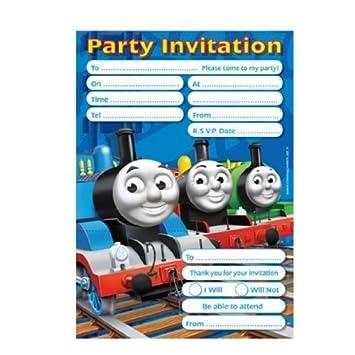 Thomas The Tank Engine 20 Party Invitations Amazon Co Uk Toys