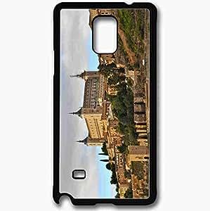 Unique Design Fashion Protective Back Cover For Samsung Galaxy Note 4 Case Alcazar Toledo Spain Black