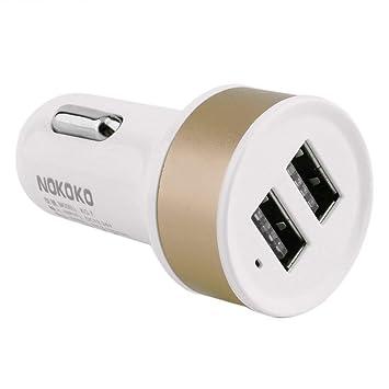 Momorain Auto CRO Universal de Doble Puerto USB Cargador de Coche ...