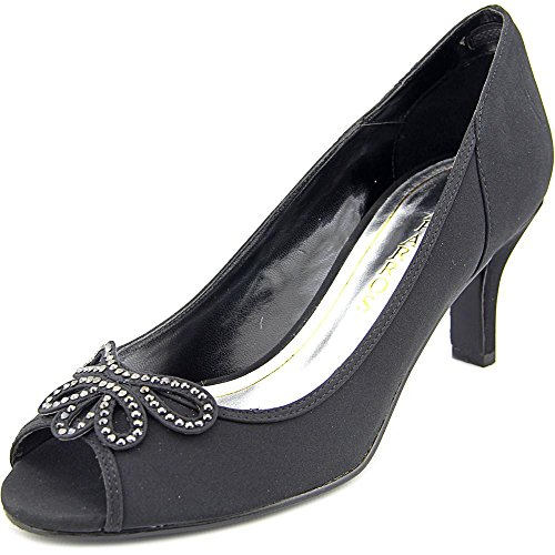 Womens Peep WATSONS Toe Caparros Black Pumps Classic 64w1dwxOq