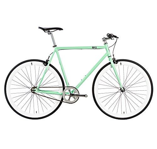 6KU Milan 1 Fixed Gear Bicycle, Mint Green/White, 58cm