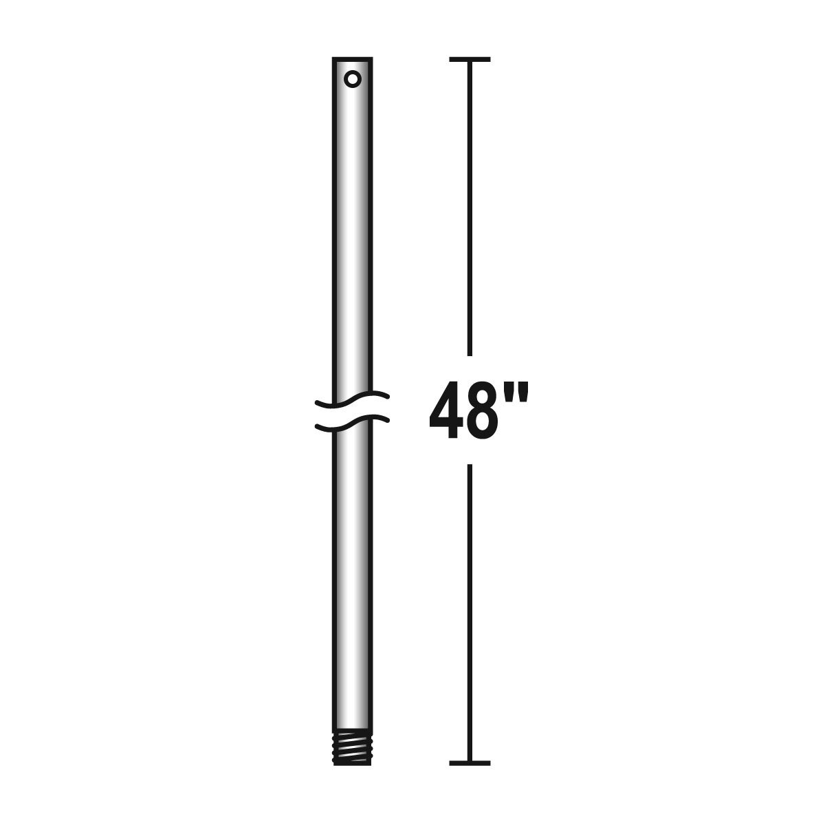 Savoy House DR48-196 Accessory - 48'' Down Rod, Reclaimed Wood Finish