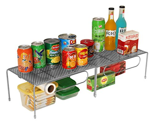 Esylife Expandable Kitchen Cabinet Rack Counter Shelf Organizer With 8 Transparent Rubber Cover Silver Buy Online In Bahamas At Bahamas Desertcart Com Productid 34613798