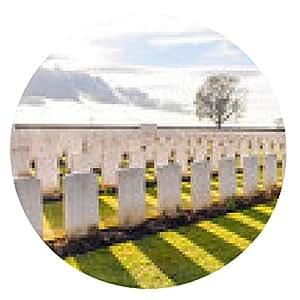 alfombrilla de ratón Soldado cementerio de la Primera Guerra Mundial Flandes - ronda - 20cm