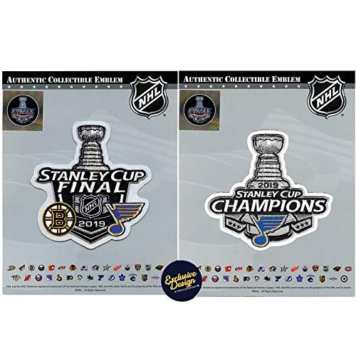 2019 Stanley Cup Final Champions and Dueling St. Louis Blues Jersey Patch Combo ()