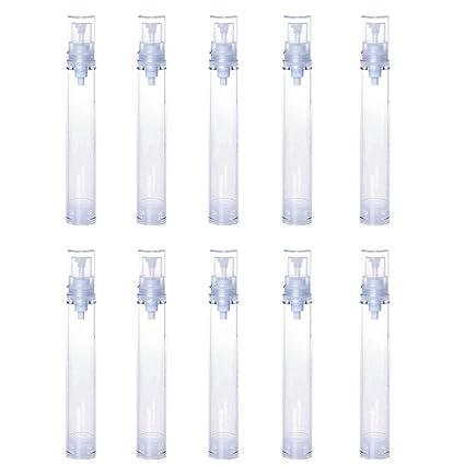 JUNGEN 10 Piezas Botella de Viaje, 15ml Vacíos Botella de Plástico Rellenable Portátil Botellas de