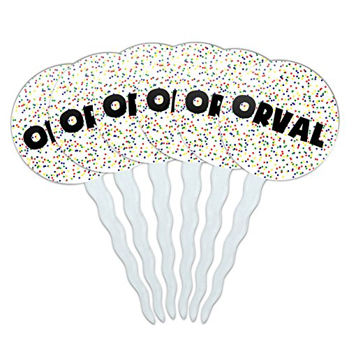 orval-cupcake-picks-toppers-decoration-set-of-6-multicolored-speckles