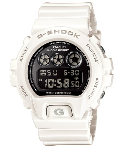 (Casio G-shock Chrono 20 Bar Mirror Dial Mens Watch DW6900NB-7)