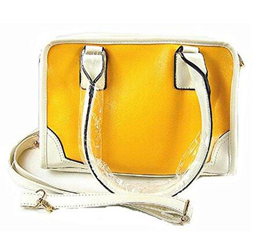 Hot Womens Vintage Hobo Messenger Handbag Shoulder Bag Tote with Bow Yellow1