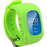 TURNMEON® Bambini Smartwatch GPS Della LBS Doppia Posizione di Sicurezza dei Bambini Osservare Attività Inseguitore SOS Chiamata di SIM Card per Android iOS (verde)