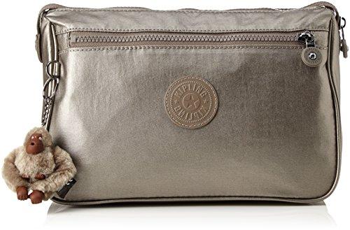 Kipling Unisex Adult's Puppy Messenger Bag One Size Metallic Pewter