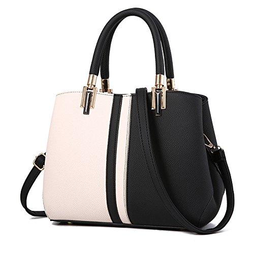 YXLONG Women's Bags Color Shoulder Bag Handbags Simple Wild Women's Black Korean Tide New Hit Big Fashion Messenger Bag Bags 55Yw6r