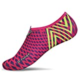 L-RUN Lightweight Comfortable Antiskid Driving Shoes for Women Breathable Rose Red S(W:4.5-5.5)