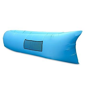 Tumbona inflable para camping de E T, sirve como sofá y saco de dormir, impermeable y duradero, ...