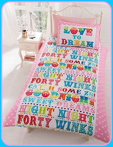 Dream Fun Copripiumino.K K Love To Dream Fun Adulti O Funky Retro Bambino Set
