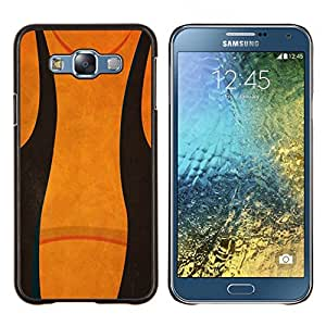 Stuss Case / Funda Carcasa protectora - Resumen Negro Naranja - Samsung Galaxy E7 E700