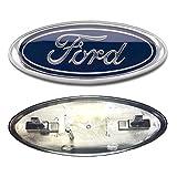 ford f350 emblem - 2005-2007 Ford F250/F350 Super Duty Dark Blue Oval 9