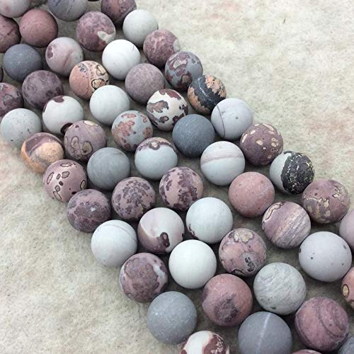 Jewelry Making Supplies - 14mm Matte Natural Owyhee Jasper Round/Ball Shaped Beads with 1mm Holes - Sold by 15.25 Strands (Approx. 28 Beads) - Quality Gemstone