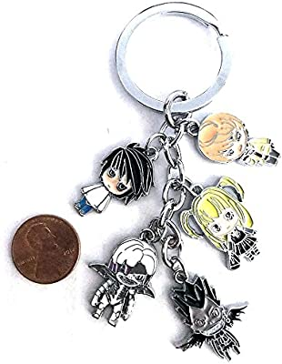 Anime Death Note Character Keychain Light L Ryuk Misa Rem