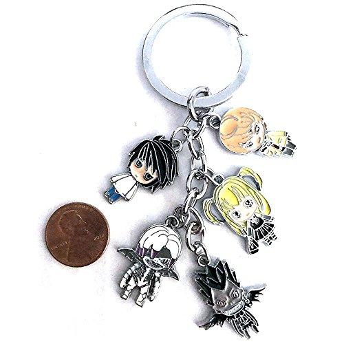 Anime Death Note Character Keychain Light L Ryuk Misa Rem