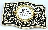 Half Dollar 30mm Cabochon Cab Gem Antique Gold Color Leaf Belt Buckle Mounting CF844