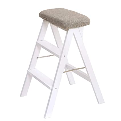 Brilliant Mz Step Ladder 2 Step For Bedside White Foldable Wooden Step Squirreltailoven Fun Painted Chair Ideas Images Squirreltailovenorg
